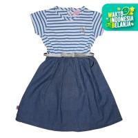 Rodeo Junior Girl x Erika Santoso Dress Anak Denim - Blue With Belt - 4