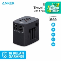 Wall Charger Anker Universal Travel Adaptor Black - A2730