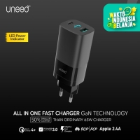 UNEED GaN Charger 65W QC 4.0 3.0 PD 3.0 AFC FCP SCP - UCH409