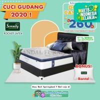 Serenity Set Kasur Spring Bed Impressa Pocket Latex 160x200