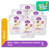 Sleek Baby Bottle Nipple & Accessories Cleanser Pouch 70 ml 6 Pcs