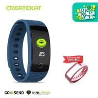 Createkat Smartwatch Pemantau Tidur Smart Band Tahan Air Biru Katfit1 - Biru