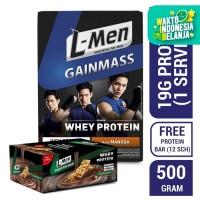 L-Men Gain Mass Mangga 500gr FREE Crunchy Chocolate Protein Bar (12 S)