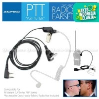 Earphone Tube Headset Microphone Mic Touring HT Baofeng UV5R 888s etc