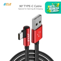 ECLE Kabel Charger USB Gaming Type-C Android Kuat Fast Charging 2.3 A