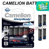 Battery camelion AA 2000 mah plus Casing for Flash kamera