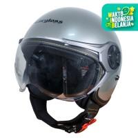 Cargloss YRM Micrometric Buckle Helm Half Face - Silver Met