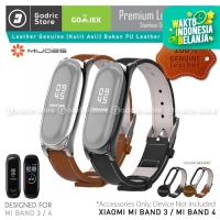 MIJOBS Xiaomi Mi Band 4 & 3 Leather Strap Magnetic Shell Original