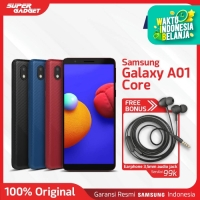 Samsung Galaxy A01 Core Smartphone [1GB- 16GB] Free Earphone - Garansi
