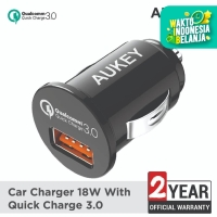 Aukey Car Charger 1 Port 18W USB QC 3.0 - 500195