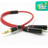Universal 3.5mm Jack 1 Male to 2 Female Couple Audio Splitter Cable