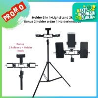 Smartphone Holder 3 in 1+ Lightstand 2M Bonus Holder u + Holder 360