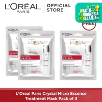 L'Oreal Paris Crystal Micro Essence Treatment Mask Pack of 3