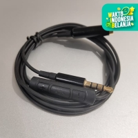 Audio Extension Cable With Microphone Volume Control Kabel Sambung