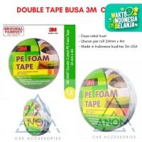 DOUBLE TAPE BUSA 3M Pe Foam Tape 24 mm x 4 M ORIGINAL SERBAGUNA