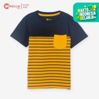 Moosca Kidswear Raven Tee Kaos Anak - Stripe Yellow