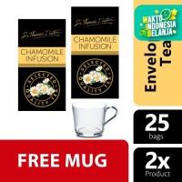 Lipton Chamomile Infusion STL 25S Twin Pack - Free Mug
