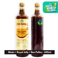 Madu Pramuka - Madu Super (Madu + Tepung Sari + Royal Jelly) 650ml