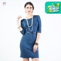 BODYTALK-DRESS LENGAN 3/4 SIMPLE CUT DRESS 73016T6NA) - Navy, S