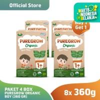 (Buy 1 Get 1) Paket 4 Box PUREGROW Organic - Susu 1-3 thn 360gr Boy