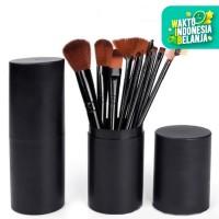 Brush Tabung BLACK Hankousi Nankousi - Kuas MakeUp Set 12 pcs