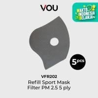 VOU Filter Refill Masker Sport PM 2.5 5 PLY - VFR202