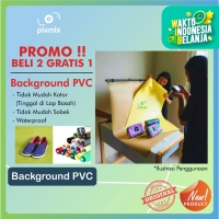 50 X 60CM - BACKGROUND FOTO PRODUK - BAHAN PVC   PROMO BELI 2 GRATIS 1