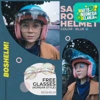 Helm Retro Bogo Sada Rosa Biru Pastel Helm Retro Wanita Helm SNI