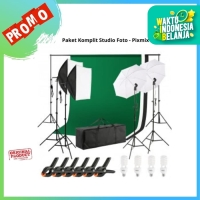 Softbox payung komplit - Stand 2 X 3M - Paket lengkap Studio foto