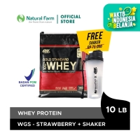 Optimum Whey Gold Double Strawberry 10 Lb + Free Shaker