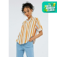 Colorbox V-Neck Blouse I:Bswkey120F041 Yellow