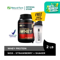 Optimum Nutrition 100% WHEY Gold Standard-Strawberry 2 lb Free Shaker
