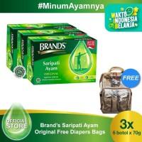 Brand's Saripati Ayam Original 70 gr Free Diapers Bags