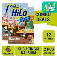 Twin Pack: HiLo Teen Chocolate 500gr - Susu Tinggi Kalsium