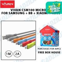Kabel Data Vivan CSM 100 Micro USB Samsung BB Xiaomi Asus CSM100