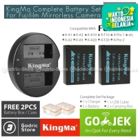 KingMa Paket Complete Battery Charger Set NP-W126 Fujifilm X Series