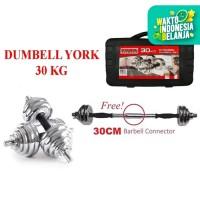 Dumbell York 30kg Chrome / Barbel 30kg / Dumbel Set 30 kg