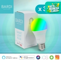 [3 PCS] BARDI Smart LED Light Bulb RGB+ WW 9W Wifi Wireless IoT Home