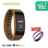Createkat Smart Band Konsumsi Daya Ultra Rendah Smartwatch Katfit 1 - Cokelat