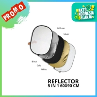 Reflector 5 in 1 ukuran 60 x 90 cm Pixmix reflektor