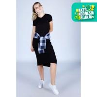 Midi Dress / Eledra Black Dress 72086D6BK - Ninety Degrees