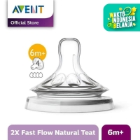 Philips Avent SCF654/23 TEAT NATURAL FAST FLOW 6M PLUS - Putih
