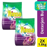 Rinso Molto Deterjen Bubuk Perfume Essence 1.8Kg Twin Pack