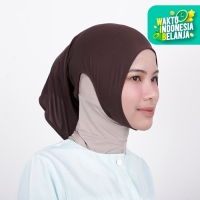 Zoya Inner Kerudung Ciput Hijab - Ciput Telinga Naya Dark Brown