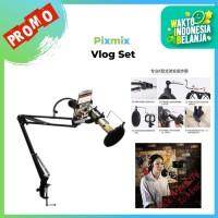 Pixmix Microphone & Smartphone Lazypod Stand Remax