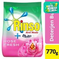 Rinso Molto Deterjen Bubuk Rose Fresh 770G