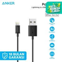 Kabel Charger Anker PowerLine MFI Lightning Cable 3ft Black - A7101