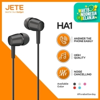 Handsfree - Earphone - Headset JETE HA1 High Quality Noise Cancelling