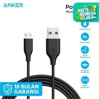 Kabel Charger Anker PowerLine 6ft/1.8m Micro USB Red - A8133