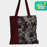 The KiliSuci Batik & Craft Totebag Tenun Motif Beruang - Merah